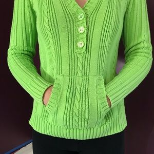 Justice size 16 neon green sweater hoodie